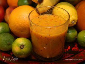 Коктейль из манго, киви и грейпфрута