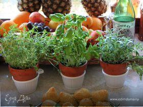 Профитроли с сырно-чесночным салатом