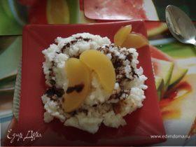 Рисовая каша с персиком