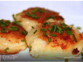 Картофельные котлетки с чеддером
