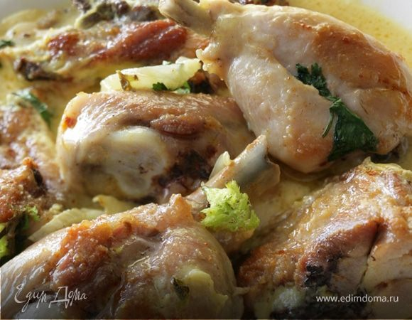 Тушеные куриные бедрышки в специях с фенхелем