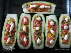 Кабачки-лодочки вегетарианские