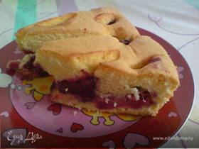Сливово-яично-ликёрный пирог