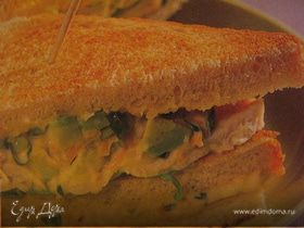 Сэндвичи с курицей и авокадо