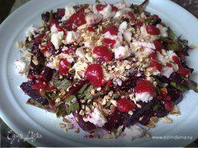 Салат из запеченной свеклы и козьего сыра