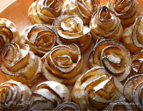 Розы из слоеного теста с яблоками рецепт пошаговый 58