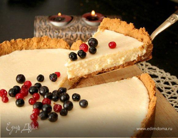 сладкий пирог со сгущённым молоком.