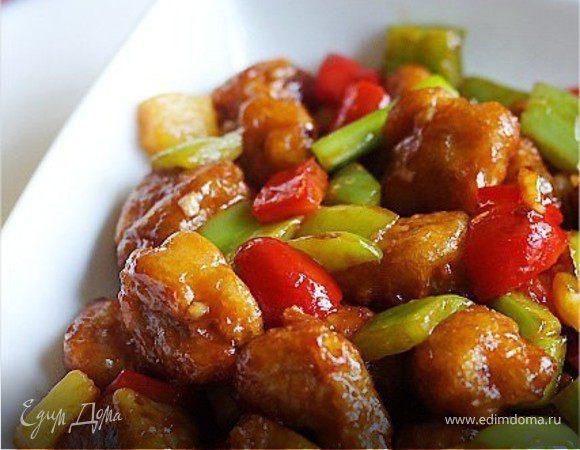 Свинина с овощами в кисло-сладком соусе видео
