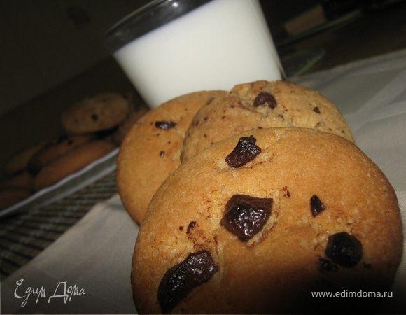 Печенье с кусочками шоколада Cookies with chocolate chips