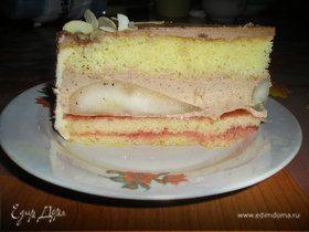 Грушевый торт с кофейно-шоколадным кремом