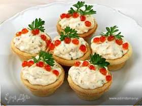 Тарталетки с слабосоленым лососем