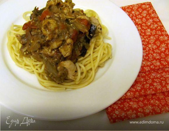 Спагетти с гарниром