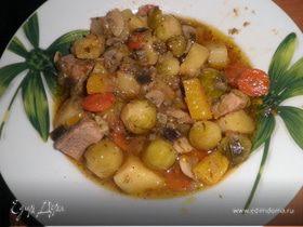 Овощное рагу с брюссельской капустой