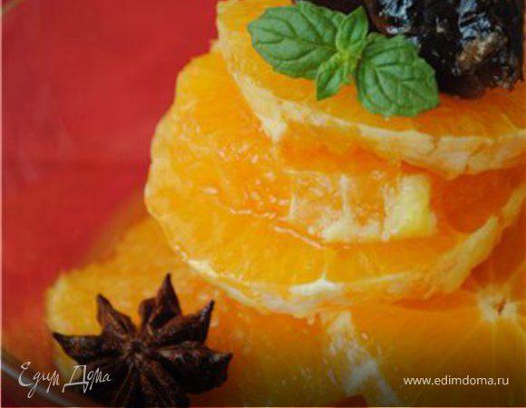 Салат из апельсинов с Кампари