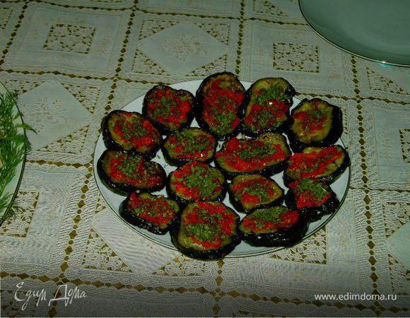 Баклажаны с красным перцем.