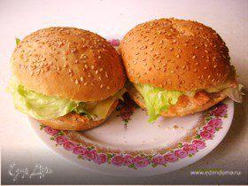 Гамбургеры с красной рыбой