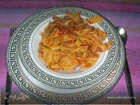 Паста для спагетти или тальятелле домашнего изготовления