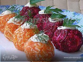 Овощные шарики к Новому году