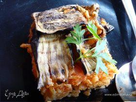 Ленивый рис с баклажаном