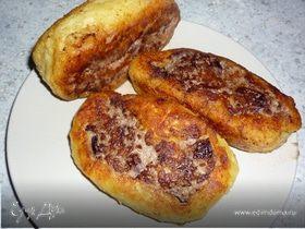Картофельный рулет с мясом