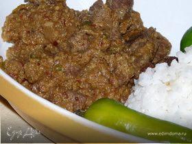 Говядина в карри из кокоса / Pallu Basa