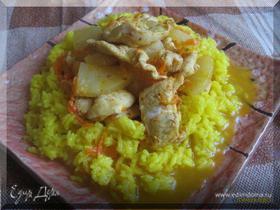 Курица с ананасами и рисом