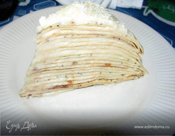 Блинный пирог с кремом