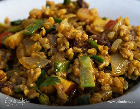 Рисовый салат с карри