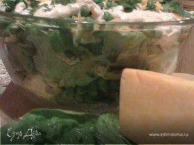 """Салат """"Тэнги"""" из зеленого горошка"""