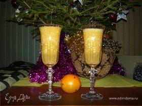 """Коктейль на основе шампанского """"Утро нового года"""""""