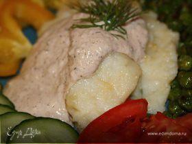 Белая рыба с ореховым соусом