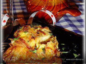 Рыба в горшочках, запеченная в омлете