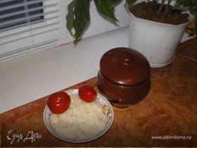 Картошечка в горшочках с мясом и грибами