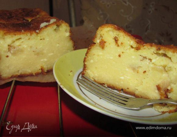 Кекс творожный с яблочным ароматом
