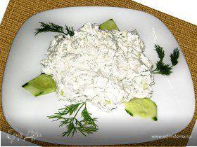 Салат со сцеженным мацони