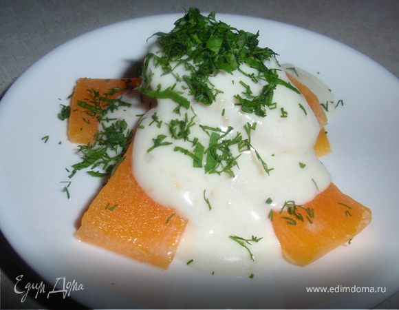 Тыква под молочно-сливочным соусом