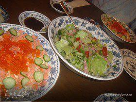 Чираши-суши (Рис с красной рыбой и икрой)