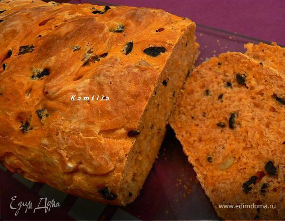 Томатный хлеб с оливками