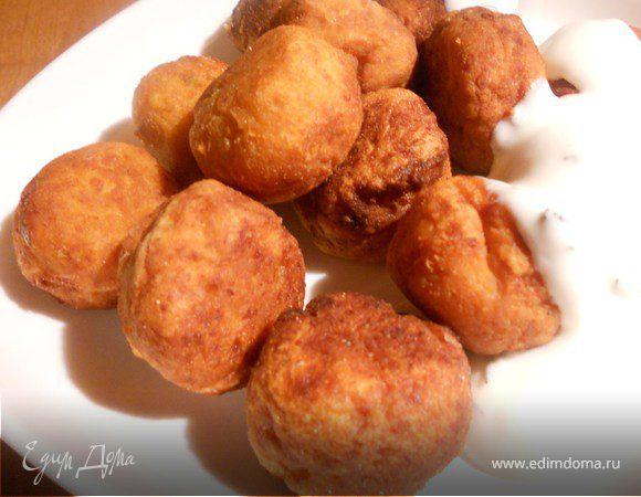 Чечевичные шарики с йогуртом
