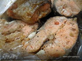 Рыба запеченая в рукаве