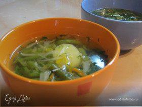 Зимний овощной суп.