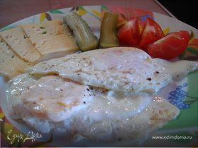 """Яйца жаренные в """"мешочек"""", или завтрак на скорую руку."""