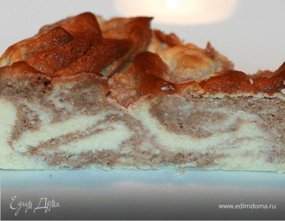 Шоколадный мраморный чизкейк