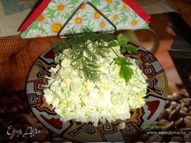 Салат из лука порея и сельдерея