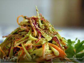 Салат огуречно-морковный с кунжутом (постный)