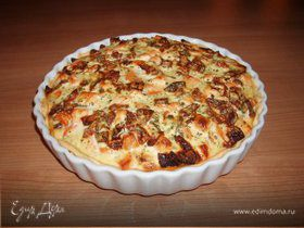 Овощной пирог с лососем. (Gemüsequiche mit Lachs)