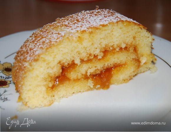 Бисквит с абрикосовым вареньем рецепт пошагово в духовке 59