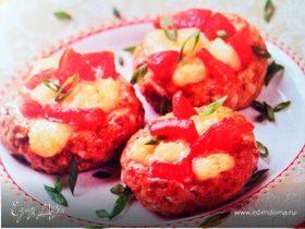 """Гнездышки"" с сыром и помидорами"