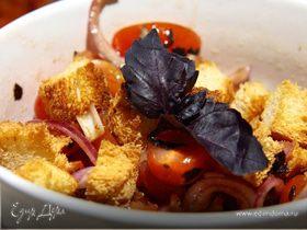 Panzanella-итальянский салат с черствым хлебом