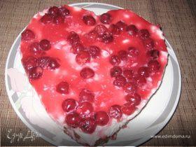 Вишнево-творожный десерт